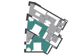 ЖК Парус City: планування 2-кімнатної квартири 64.84 м²