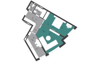 ЖК Парус City: планування 2-кімнатної квартири 62.09 м²