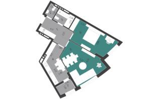 ЖК Парус City: планування 2-кімнатної квартири 65.44 м²