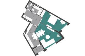 ЖК Парус City: планування 2-кімнатної квартири 67.28 м²