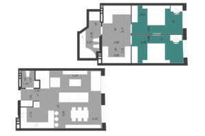 ЖК Парус City: планування 3-кімнатної квартири 95.78 м²