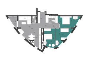 ЖК Парус City: планування 3-кімнатної квартири 88.75 м²
