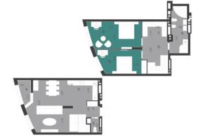 ЖК Парус City: планування 3-кімнатної квартири 101.77 м²