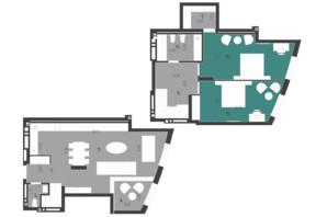ЖК Парус City: планування 3-кімнатної квартири 112.08 м²