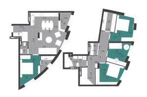 ЖК Парус City: планування 5-кімнатної квартири 115.49 м²