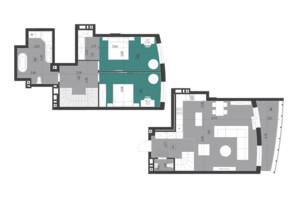 ЖК Парус City: планування 2-кімнатної квартири 114.9 м²