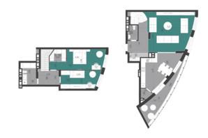ЖК Парус City: планування 3-кімнатної квартири 116.7 м²