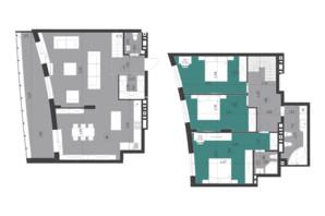 ЖК Парус City: планування 3-кімнатної квартири 150.3 м²