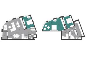 ЖК Парус City: планування 3-кімнатної квартири 145.9 м²