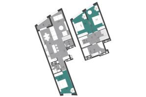 ЖК Парус City: планування 3-кімнатної квартири 125.2 м²
