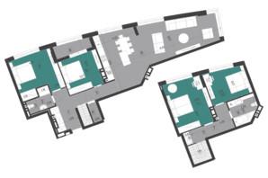 ЖК Парус City: планування 3-кімнатної квартири 147.9 м²