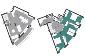 ЖК Парус City: планування 5-кімнатної квартири 126.8 м²