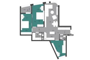 ЖК Парус City: планування 3-кімнатної квартири 93.94 м²