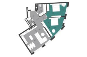 ЖК Парус City: планування 2-кімнатної квартири 81.62 м²