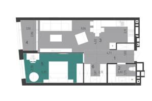 ЖК Парус City: планування 4-кімнатної квартири 58.5 м²