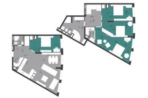 ЖК Парус City: планування 5-кімнатної квартири 148.11 м²