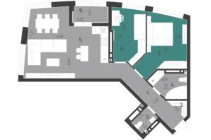 ЖК Парус City: планування 2-кімнатної квартири 73.79 м²