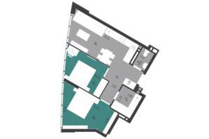 ЖК Парус City: планировка 2-комнатной квартиры 54.9 м²
