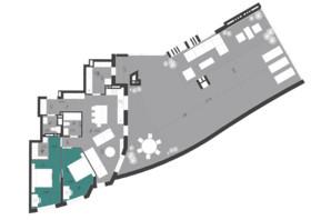 ЖК Парус City: планировка 2-комнатной квартиры 126.26 м²