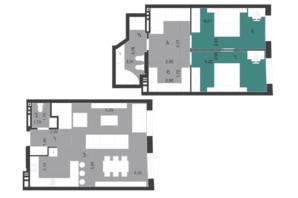 ЖК Парус City: планировка 3-комнатной квартиры 95.78 м²