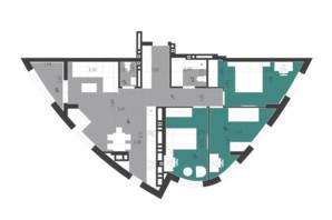 ЖК Парус City: планировка 3-комнатной квартиры 88.75 м²