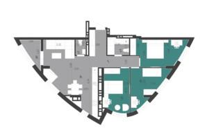 ЖК Парус City: планировка 3-комнатной квартиры 89.36 м²