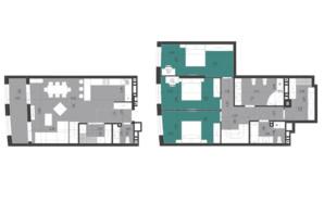 ЖК Парус City: планировка 3-комнатной квартиры 149.8 м²
