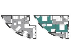 ЖК Парус City: планировка 3-комнатной квартиры 111.2 м²