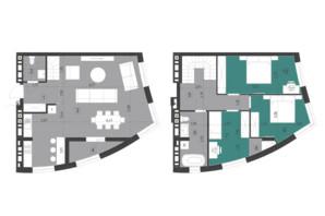 ЖК Парус City: планировка 3-комнатной квартиры 118.7 м²