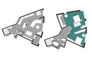 ЖК Парус City: планировка 3-комнатной квартиры 133 м²