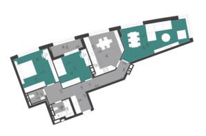 ЖК Парус City: планировка 3-комнатной квартиры 100.2 м²