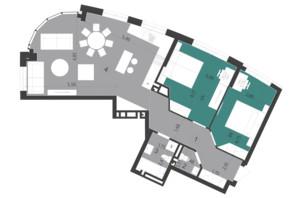 ЖК Парус City: планировка 2-комнатной квартиры 84.03 м²