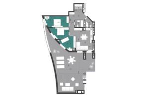 ЖК Парус City: планировка 3-комнатной квартиры 117.3 м²