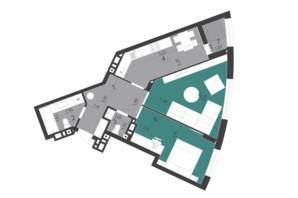 ЖК Парус City: планировка 2-комнатной квартиры 59.3 м²