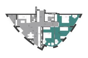 ЖК Парус City: планировка 3-комнатной квартиры 86.86 м²