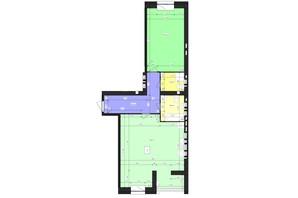 ЖК Парус (Parus): планировка 1-комнатной квартиры 71.61 м²