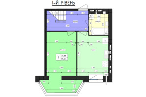 ЖК Парус (Parus): планировка 3-комнатной квартиры 85.44 м²