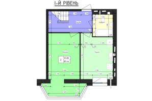ЖК Парус (Parus): планування 3-кімнатної квартири 85.44 м²