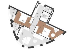ЖК Парус Преміум: планування 2-кімнатної квартири 69.8 м²