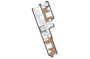 ЖК Парус Преміум: планування 2-кімнатної квартири 68.2 м²