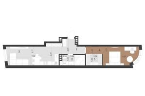 ЖК Парус Преміум: планування 1-кімнатної квартири 54 м²