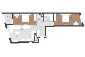 ЖК Парус Преміум: планування 2-кімнатної квартири 76.8 м²