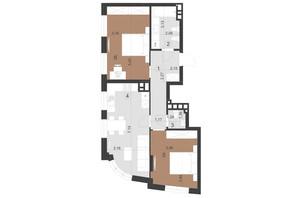 ЖК Парус Преміум: планування 2-кімнатної квартири 67.7 м²