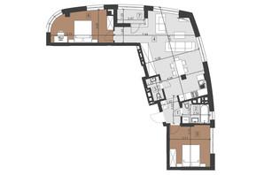 ЖК Парус Преміум: планування 2-кімнатної квартири 81.9 м²