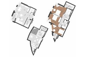 ЖК Парус Преміум: планування 3-кімнатної квартири 145.3 м²