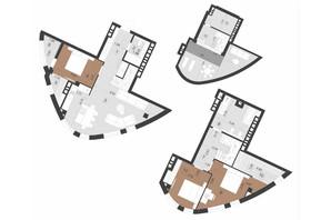 ЖК Парус Преміум: планування 3-кімнатної квартири 139.5 м²