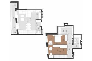 ЖК Парус Преміум: планування 2-кімнатної квартири 96.7 м²