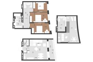 ЖК Парус Преміум: планування 3-кімнатної квартири 121.6 м²