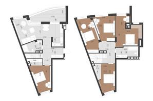 ЖК Парус Преміум: планування 5-кімнатної квартири 153.6 м²