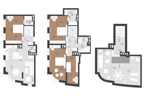 ЖК Парус Преміум: планування 4-кімнатної квартири 154.7 м²